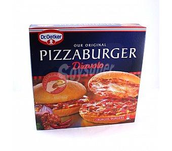 Pizzaburger Dr. Oetker Pizza burguer diavolo Caja de 345 g