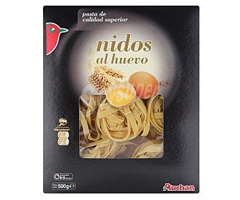 Auchan Nidos, pasta de sémola de trigo duro de calidad superior al huevo 500 gramos