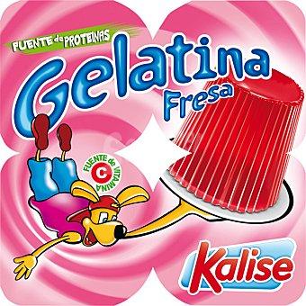 Kalise Gelatina sabor fresa pack 4 unds. 100 g Pack 4 unds. 100 g
