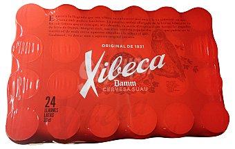 XIBECA Cerveza rubia  PACK 24 latas de 330 cc