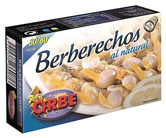 Orbe Berberechos al natural (60/80 piezas) Caja de 63 g