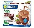 Batido de soja ecológico de chocolate 3 uds x 250 ml Bjorg