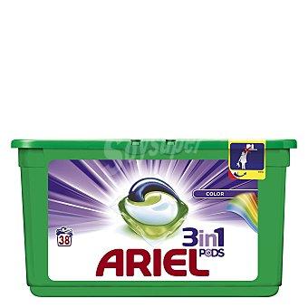 Ariel Detergente en cápsulas 3 en 1 Colour y Style 38 ud