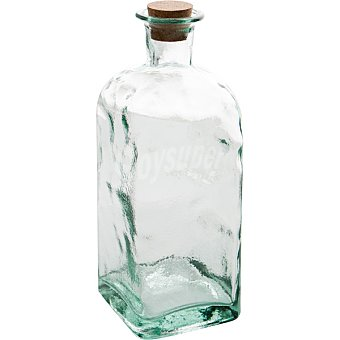 QUID Bari Frasco Cuadrado de vidrio con tapón de corcho 2 l