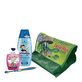 Licor del Polo Neceser champú y gel de ducha + dentífrico Junior kit 1 ud
