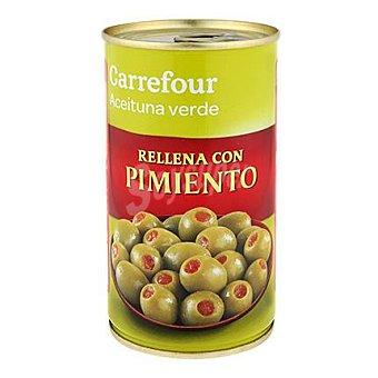 Carrefour Aceitunas manzanilla verde rellenas de pimiento 150 g