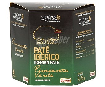 Coren Vettonia Montanea paté de hígado de cerdo ibérico a la pimienta verde Pack 2 x 78 g