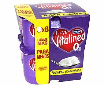 Vitalinea Danone Vitalínea natural edulcorado 8 unidades de 125 g