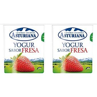 Central Lechera Asturiana Yogur sabor fresa pack 4 unds. 125 g Pack 4 unds. 125 g