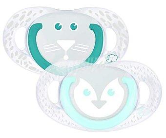 Bébé Confort Set de 2 chupetes fisiológicos de silicona, 0-6 meses, bebé confort