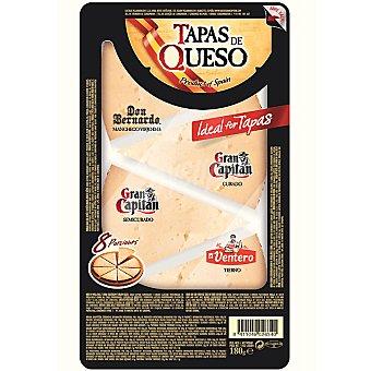 Gran Capitán Tabla de quesos nacional en cuñas Envase 180 g
