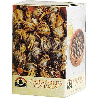 CONSERVAS MONTE CORONA Caracoles con jamón Lata 450 g