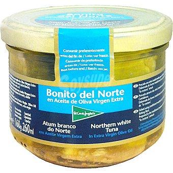 El Corte Inglés Bonito del norte en aceite de oliva virgen extra Frasco 160 g neto escurrido