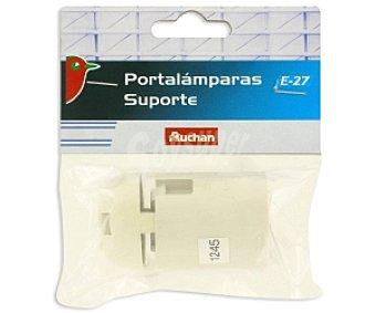 Auchan Portalámparas E27 Blanco 1 Unidad