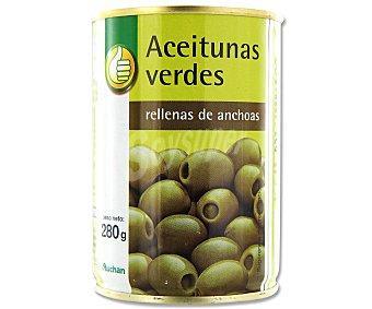 Productos Económicos Alcampo Aceitunas verdes rellenas de anchoa 120 gramos peso escurrido