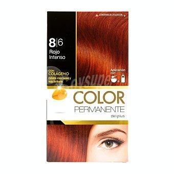 Deliplus Tinte coloracion permanente Nº 8,6 rojo intenso U