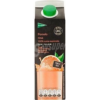 El Corte Inglés zumo de pomelo rosa exprimido con pulpa envase 1 l