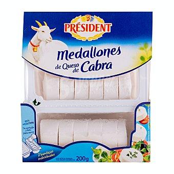 Président Rulo queso de cabra en medallones 200 g