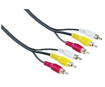 Qilive Cable de 3RCA macho a 3RCA macho de 2 metros rca-rca
