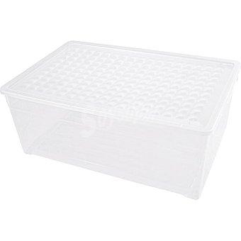 UNIT Textil Line caja de plastico transparente con tapa de 45 l 45 l