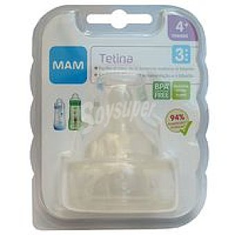 MAM Tetina silicona nº 3 Pack 2 unid