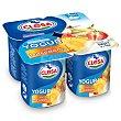 Yogur sabor macedonia Pack 4 unidades 125 gr Clesa