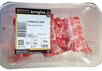 Embutidos Moreno Plaza Cerdo hueso espinazo salado fresco Bandeja 500 g peso aprox.