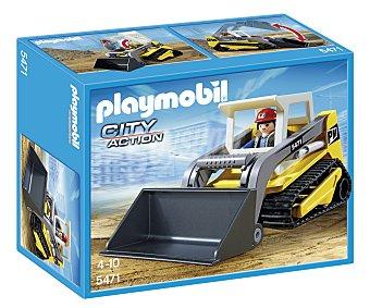 PLAYMOBIL Figura más excavadora con pala móvil y techo desmontable, modelo 5471 City Action 1 unidad
