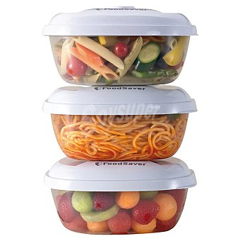 FOODSAVER Set de 3 contenedores para envasar al vacio