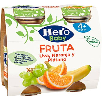 Hero Zumo de uva-naranja-plátano Pack 2x130 ml