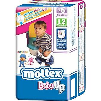 Moltex Pañales 15-23kg Talla 6 Baby Up bolsa 12 unidades