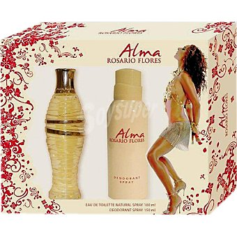 Rosario Flores Alma eau de toilette natural femenina spray 100 ml + desodorante spray 150 ml Spray 100 ml