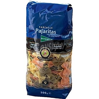 El Corte Inglés Pasta pajaritas con vegetales Envase 500 g