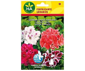 HA-Huerto y Jardín Fertilizante geraneos soluble, sobre para preparar 5 Litros 20 Gramos