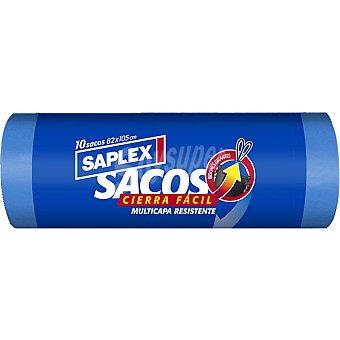 Saplex Bolsas de basura sacos multicapa Rollo 10 unidades