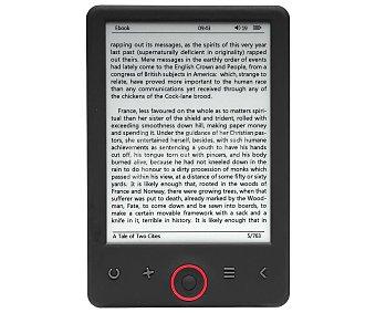 """Denver Libro electrónico de 15,24 cm (6"""") pantalla retroiluminada, 4GB, microsd EBO-630L"""
