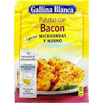Gallina Blanca Sazonador de patatas con bacon especial microondas y horno Sobre 15 g