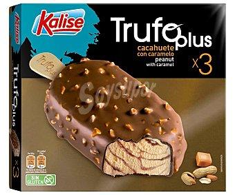 Kalise Bombón helado de cacahuete y caramelo, recubierto de chocolate con leche 3 x 75 g