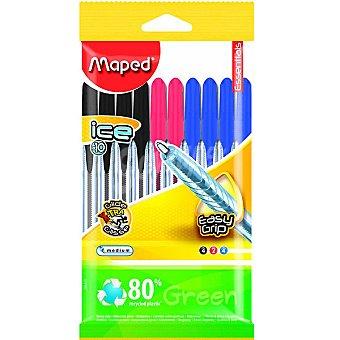 Maped Bolígrafos en colores surtidos de escritura media Pack 10 unidades