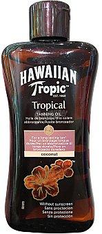 Hawaiian Tropic Aceite solar de coco sin protección Bote 200 ml