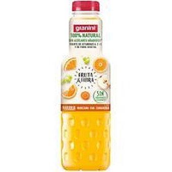 Granini Fruta&fibra de naranja-manzana-uva-zanah. Botella 75 cl