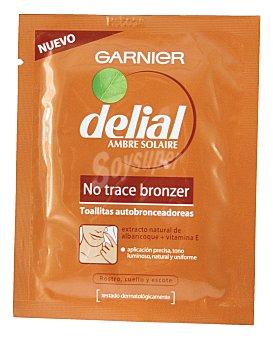 Delial Garnier Toallitas autobronceadoras rostro-cuerpo Pack 1 unid