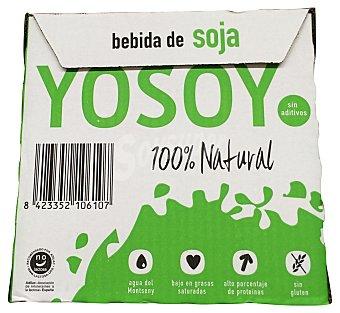 Yosoy Bebida soja (envase verde/blanco) Pack 6 bricks de 1 L
