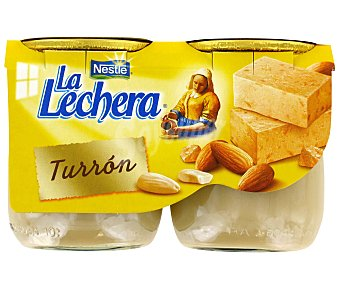 La Lechera Nestlé Postre vidrio turrón 2X125 GR