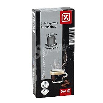 DIA Capsulas de cafe fortissimo Estuche 10 unidades