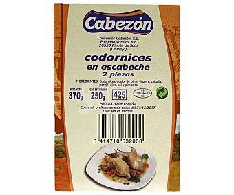 Cabezon Codornices en escabeche, 2 piezas 370 Gramos