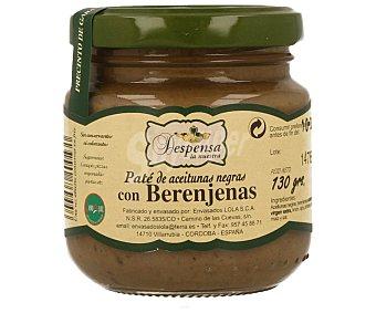 Despensa la Nuestra Paté de aceitunas negras con berenjenas 130 gramos