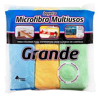 Bosque Verde Bayeta microfibra multiusos (especial cocina, baño Y salón) Paquete 3 u