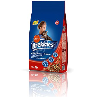 Brekkies Affinity Comida para gato con buey y verduras Bolsa 1.5 kg