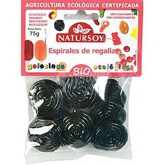 Natursoy bio regaliz en espiral biológico Bolsa 75 g
